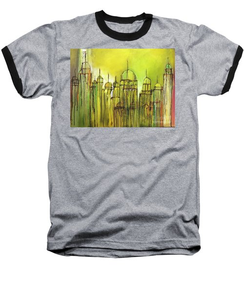 Yellow Mosque  Baseball T-Shirt