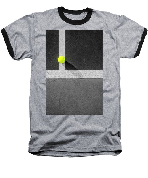 Yellow On The Line Baseball T-Shirt