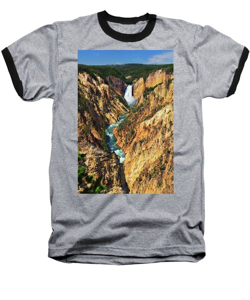 Yellowstone Grand Canyon From Artist Point Baseball T-Shirt