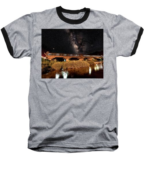 Yonghe Bridge Milky Way Baseball T-Shirt