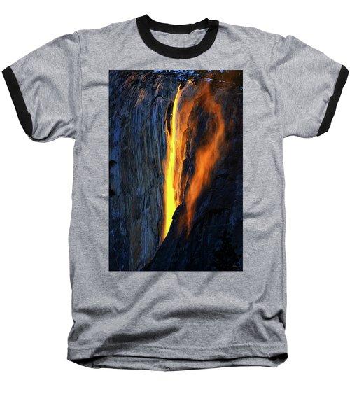Yosemite Fire And Ice Baseball T-Shirt
