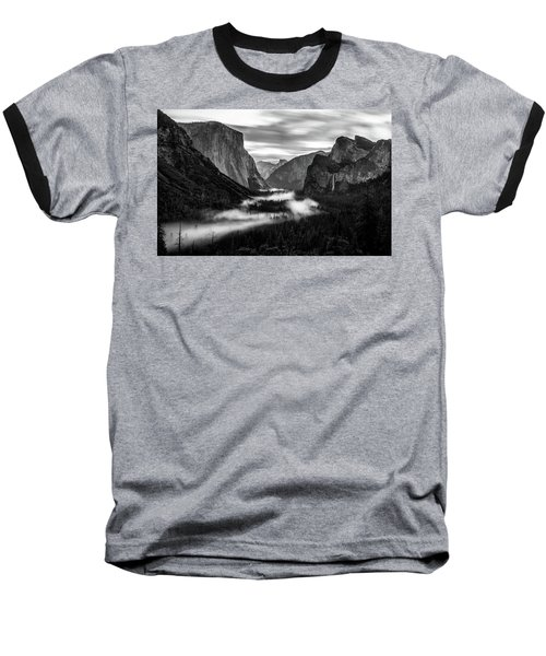 Baseball T-Shirt featuring the photograph Yosemite Fog 1 by Stephen Holst