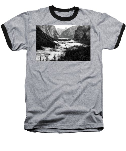 Baseball T-Shirt featuring the photograph Yosemite Fog 2 by Stephen Holst
