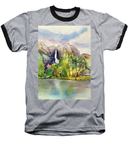 Yosemite Waterfalls Baseball T-Shirt