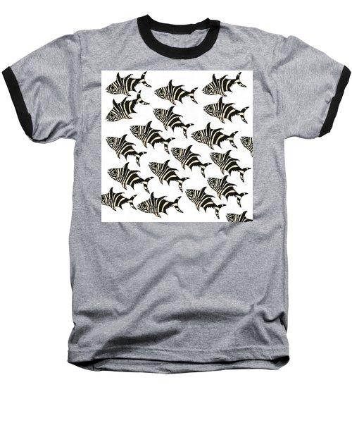 Zebra Fish 7 Baseball T-Shirt