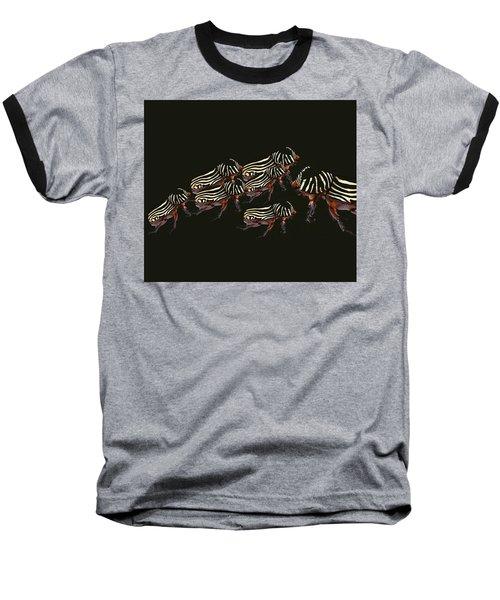 Zebra Pattern Rhinoceros Beetle 3 Baseball T-Shirt