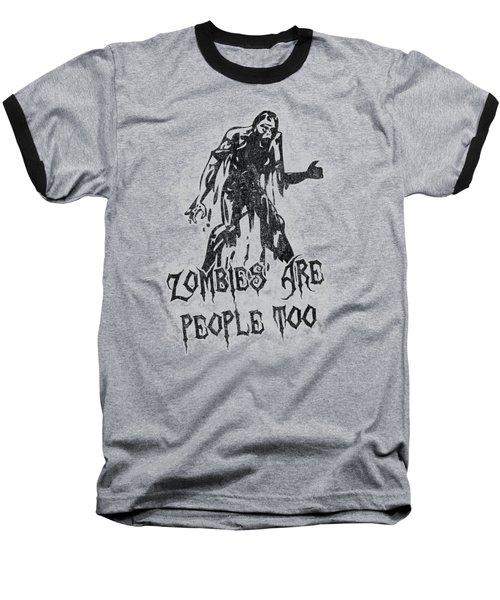 Zombies Are People Too Halloween Vintage Baseball T-Shirt
