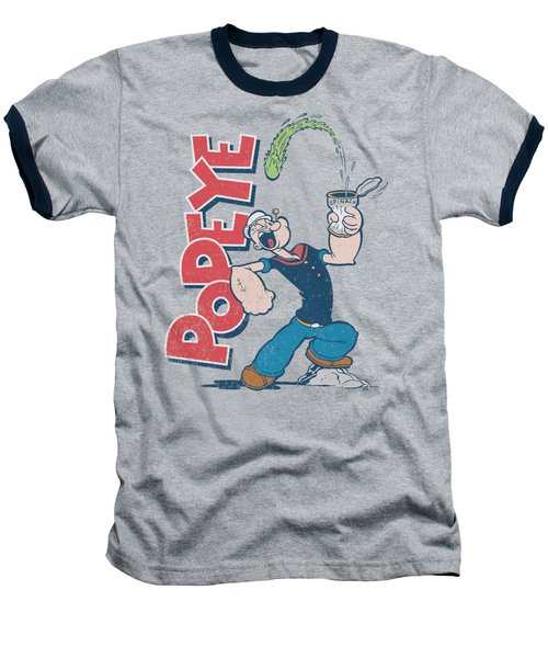 Popeye - Spinach Power Baseball T-Shirt by Brand A