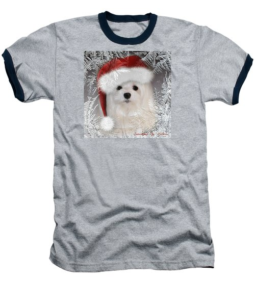 Baseball T-Shirt featuring the mixed media A Frosty Morning by Morag Bates