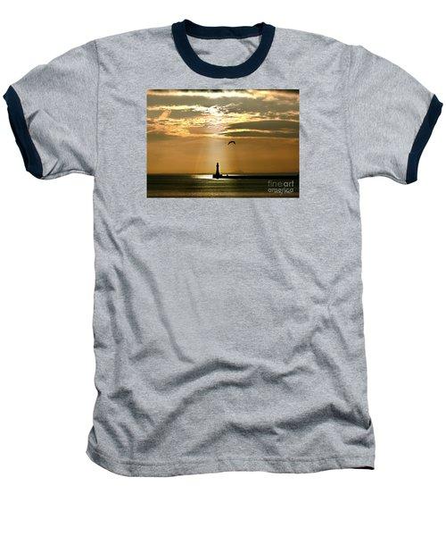 Baseball T-Shirt featuring the photograph Roker Pier Sunderland by Morag Bates