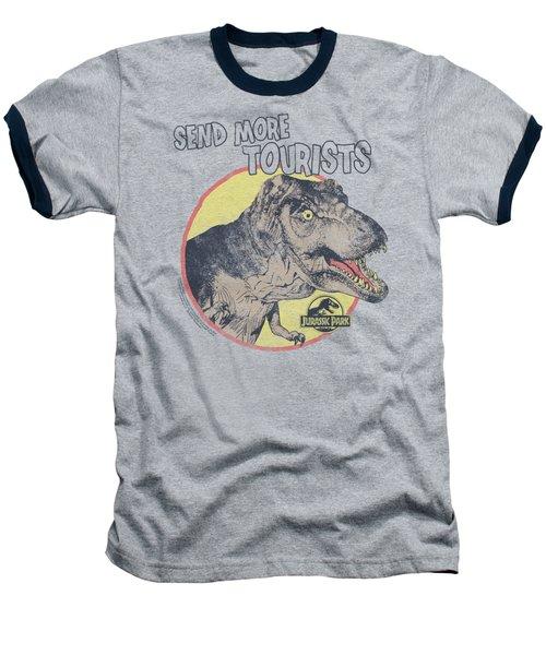 Jurassic Park - More Tourists Baseball T-Shirt by Brand A