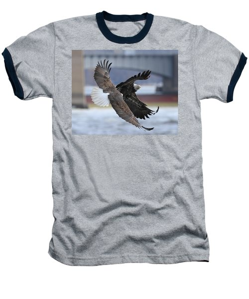 Baseball T-Shirt featuring the photograph Mid Air Fight by Coby Cooper