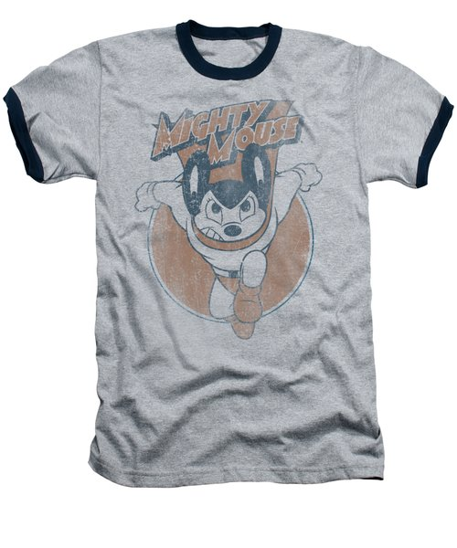 Mighty Mouse - Flying With Purpose Baseball T-Shirt by Brand A