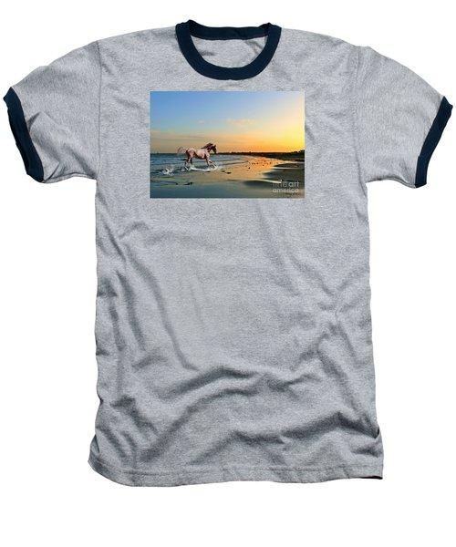Baseball T-Shirt featuring the mixed media Run Like The Wind by Morag Bates