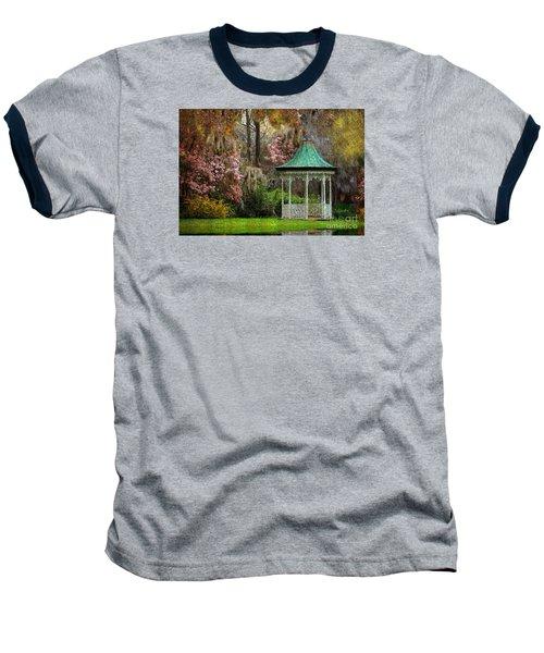 Baseball T-Shirt featuring the photograph Spring Magnolia Garden At Magnolia Plantation by Kathy Baccari