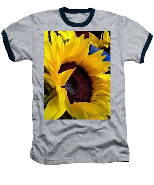 Baseball T-Shirt featuring the photograph Sunflower Sunny Yellow In New Orleans Louisiana by Michael Hoard