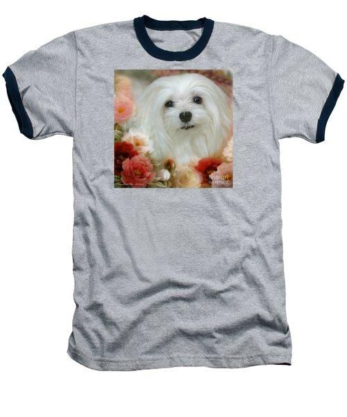 Baseball T-Shirt featuring the mixed media Sweet Snowdrop by Morag Bates