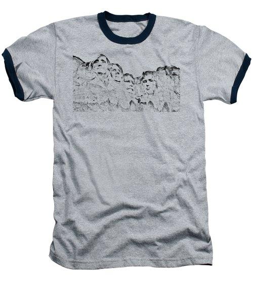The Four Presidents Baseball T-Shirt by John M Bailey