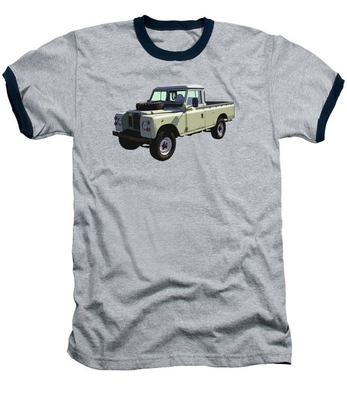 1971 Land Rover Pickup Truck Baseball T-Shirt by Keith Webber Jr
