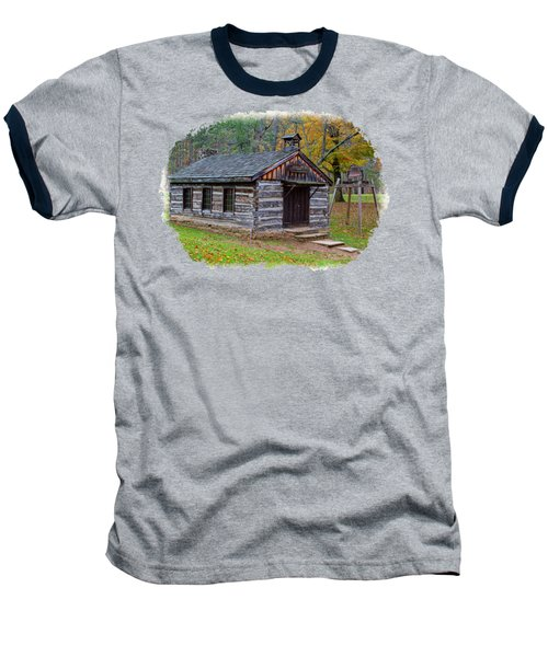 Church Baseball T-Shirt by John M Bailey