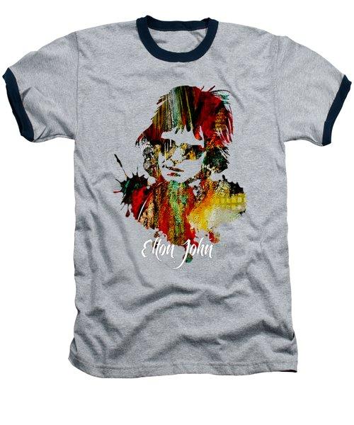 Elton John Collection Baseball T-Shirt by Marvin Blaine