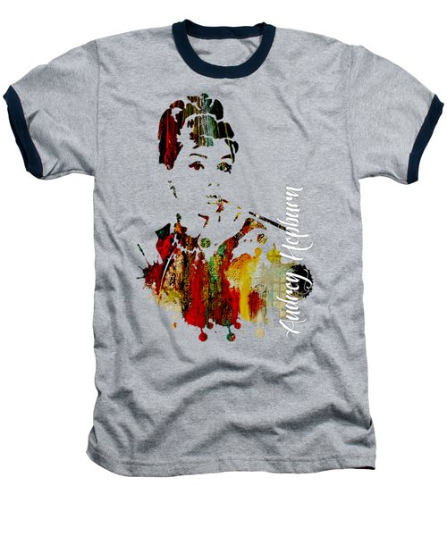 Audrey Hepburn Collection Baseball T-Shirt by Marvin Blaine