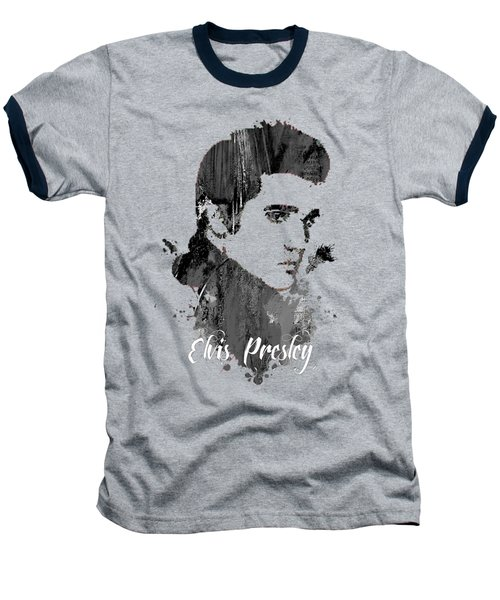 Elvis Presley Collection Baseball T-Shirt by Marvin Blaine