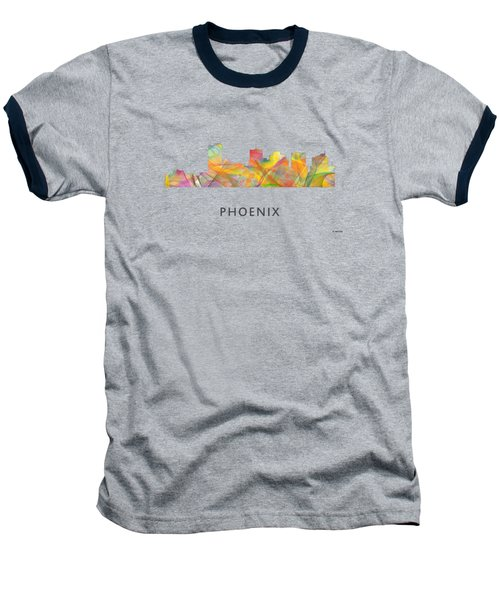 Phoenix Arizona Skyline Baseball T-Shirt by Marlene Watson