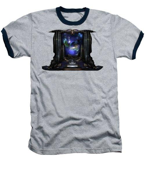 89-123-a9p2 Arsairian 7 Reporting Fractal Composition Baseball T-Shirt by Xzendor7