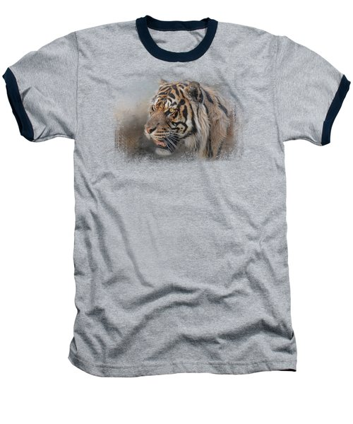 Alert Bengal Baseball T-Shirt by Jai Johnson