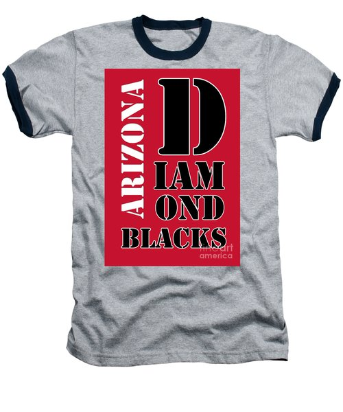 Arizona Diamondbacks Baseball Typography Red Baseball T-Shirt by Pablo Franchi