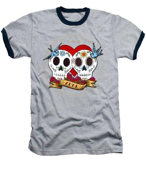 Love Skulls II Baseball T-Shirt by Tammy Wetzel