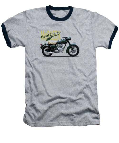 The Great Escape Motorcycle Baseball T-Shirt by Mark Rogan