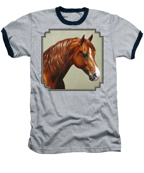 Morgan Horse - Flame Baseball T-Shirt by Crista Forest