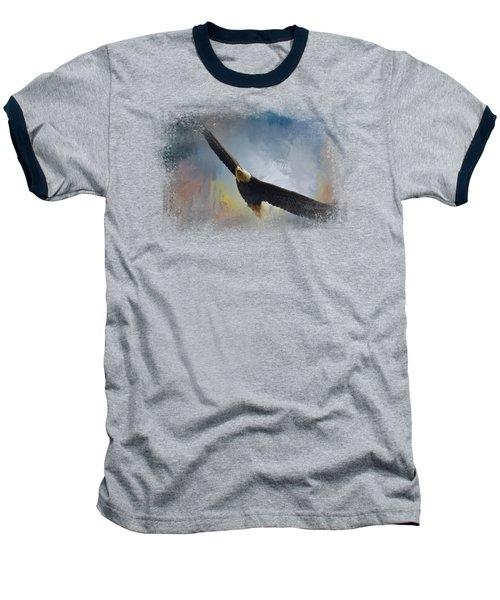 Ascending Baseball T-Shirt by Jai Johnson