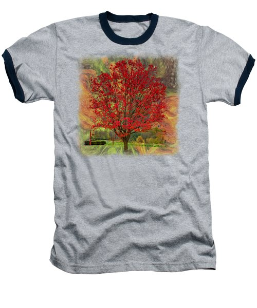 Autumn Scenic 2 Baseball T-Shirt by John M Bailey