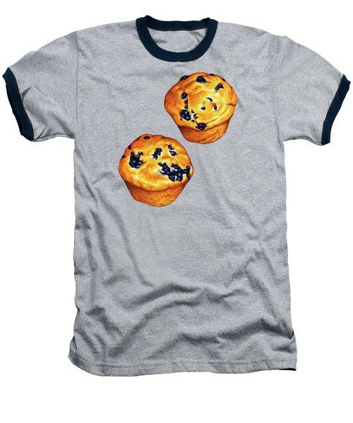Blueberry Muffin Pattern Baseball T-Shirt by Kelly Gilleran