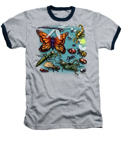 Baseball T-Shirt featuring the painting Bugs by Kevin Middleton