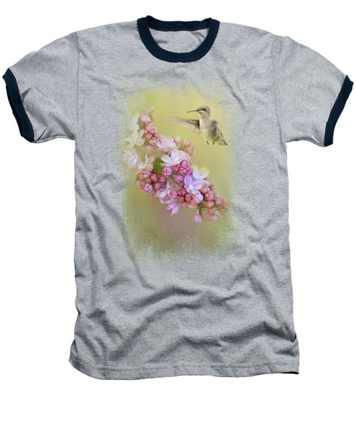 Chasing Lilacs Baseball T-Shirt by Jai Johnson