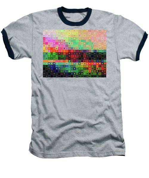 Baseball T-Shirt featuring the digital art Color Coded by Wendy J St Christopher