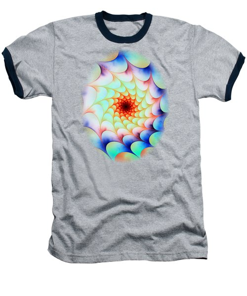 Baseball T-Shirt featuring the digital art Colorful Web by Anastasiya Malakhova