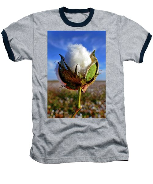 Baseball T-Shirt featuring the photograph Cotton Pickin' by Skip Hunt