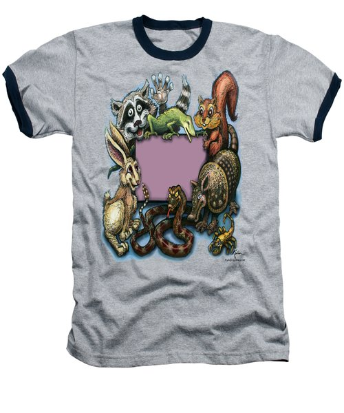 Critters Baseball T-Shirt by Kevin Middleton