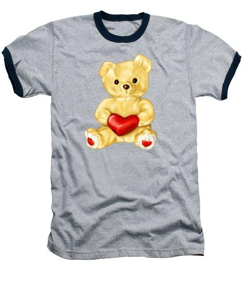 Cute Teddy Bear Hypnotist Baseball T-Shirt by Boriana Giormova