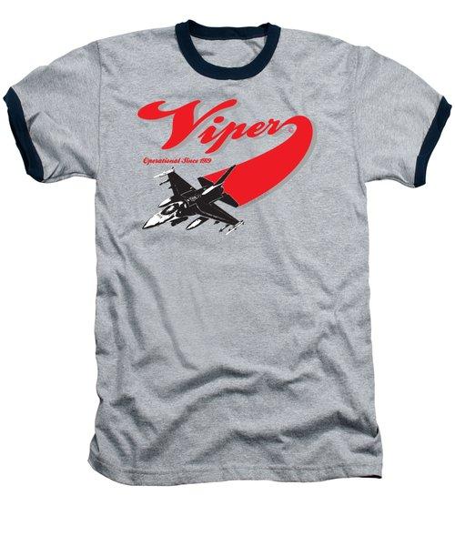 F-16 Swoop Baseball T-Shirt by Clear II land Net