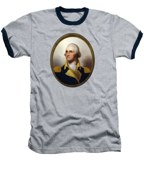 General Washington - Porthole Portrait  Baseball T-Shirt by War Is Hell Store