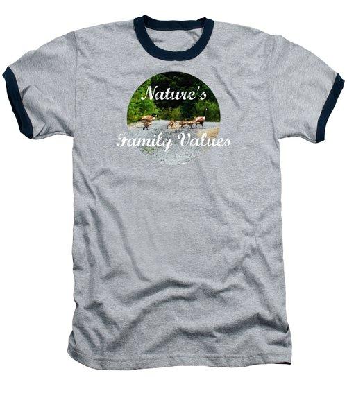 Goose Family Baseball T-Shirt by Anita Faye