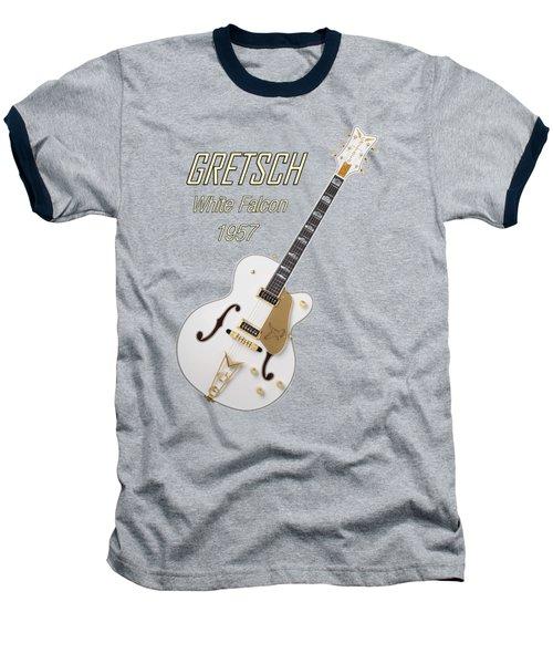Gretsch  White Falcon 1957 Baseball T-Shirt by Shavit Mason