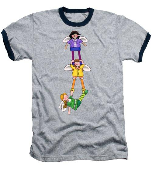 Hang In There Baseball T-Shirt by Sarah Batalka