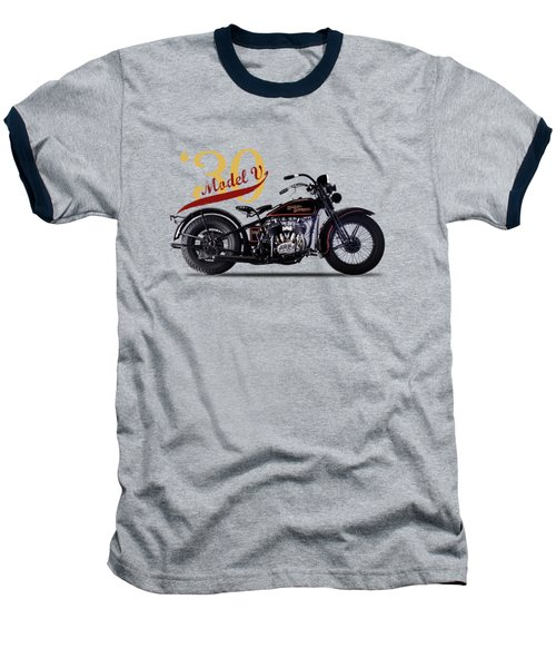 Harley-davidson Model V 1930 Baseball T-Shirt by Mark Rogan